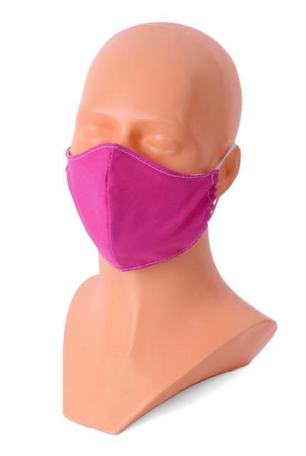 Ochranná rouška maska dětská 3-7 let purpurová+5ks filtr - 1