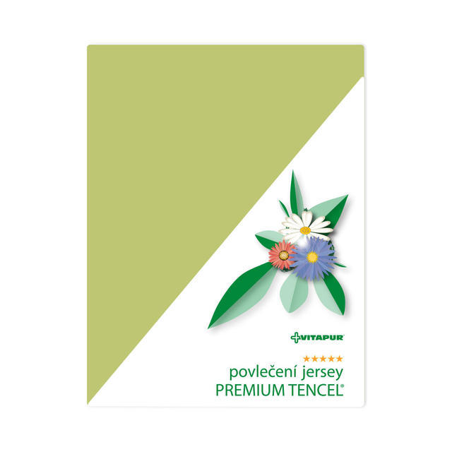 Leinen Jersey PREMIUM TENCEL Grün - Kissen - 1