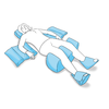 Anatomický polštář Vitapur Vario PROFI 30x32x12 s otvorem - 2/2