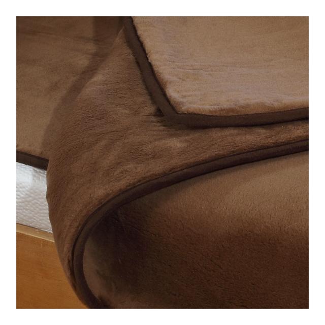 Merino Wolldecke Camel doppelseitig - 2