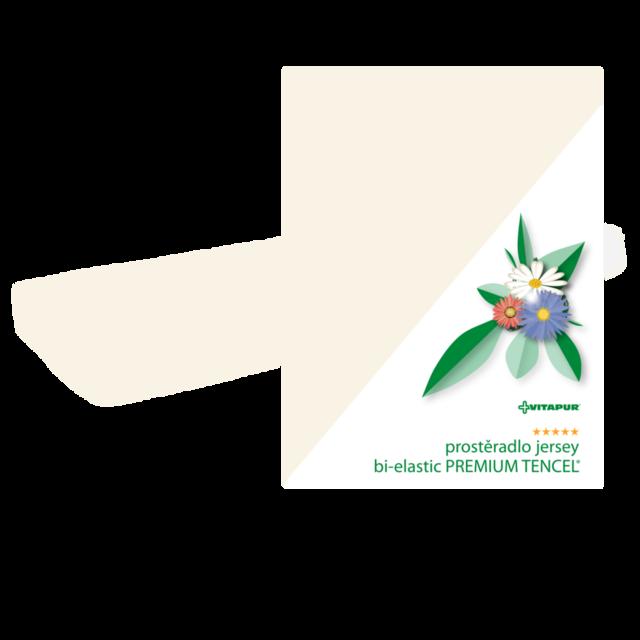Noten Jersey bi-elastische PREMIUM TENCEL Weiß - 2