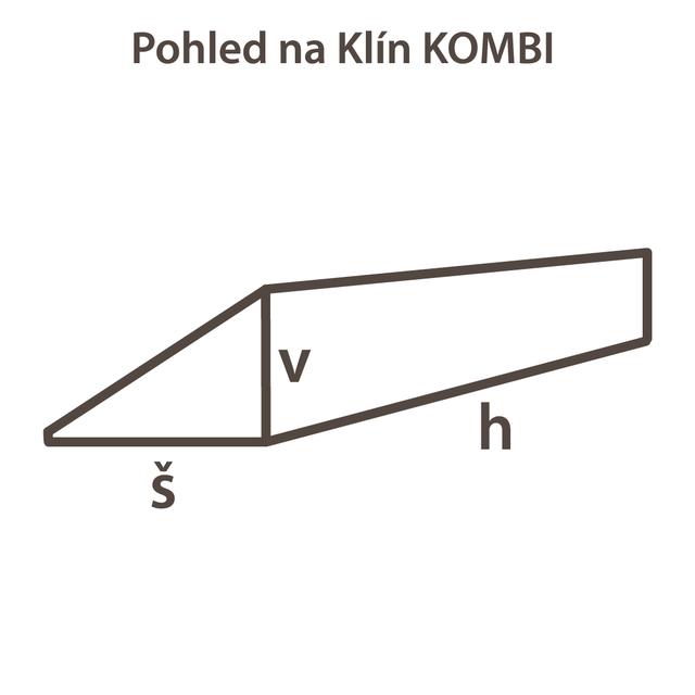 Klín KOMBI froté 60x17x80 M - 3