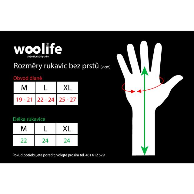 Handshuhe-Pulswärmer funktionelle wolle Woolife Merino schwarz - 3